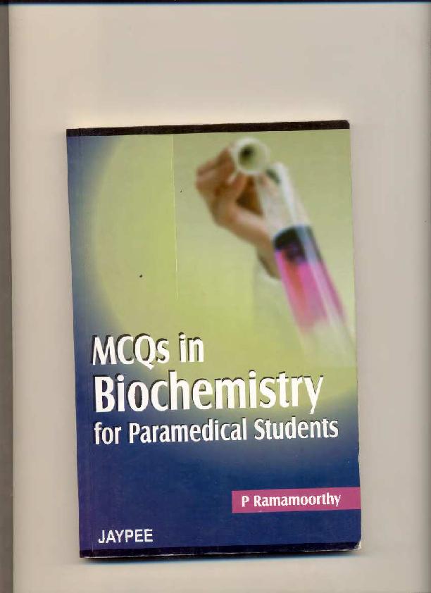 PDF) 1-MCQ-Biochemistry-for paramedical students pdf | ehab