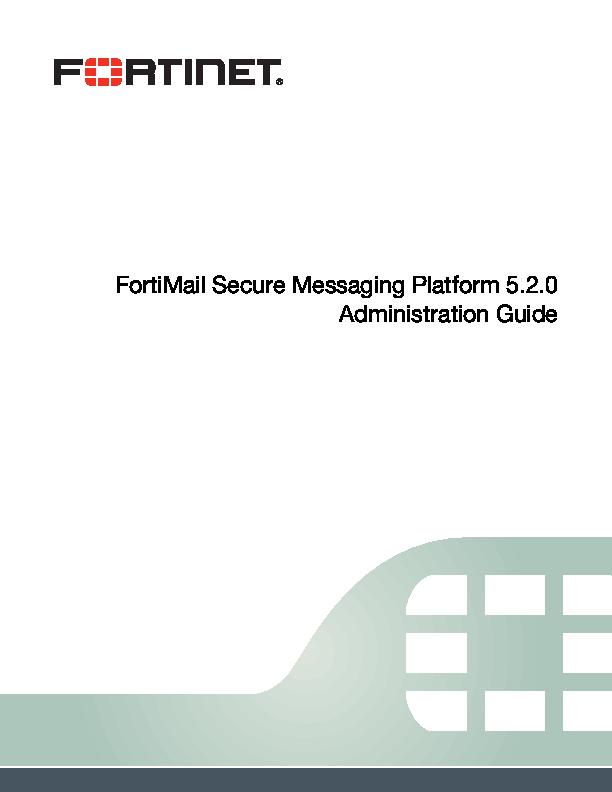 PDF) FortiMail Secure Messaging Platform 5 2 0