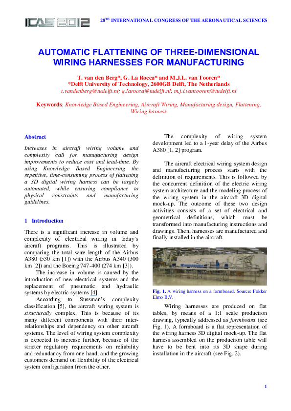 Fine Pdf Automatic Flattening Of Three Dimensional Wiring Harnesses For Wiring Digital Resources Zidurslowmaporg