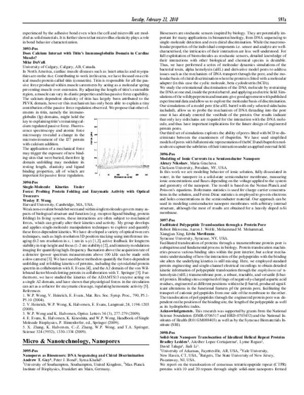 PDF) Facilitated Polypeptide Translocation through a Protein