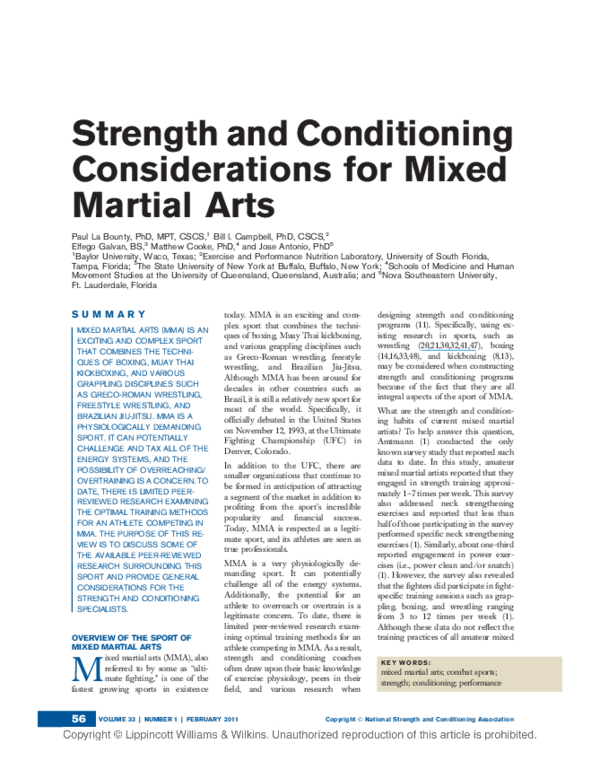 Complete Conditioning For Martial Arts Pdf