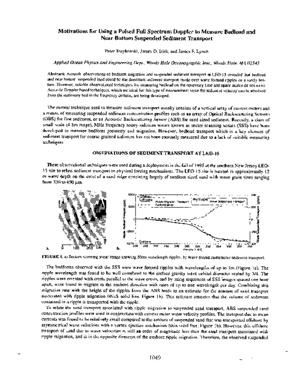 PDF) Motivations for using a pulsed full spectrum Doppler to