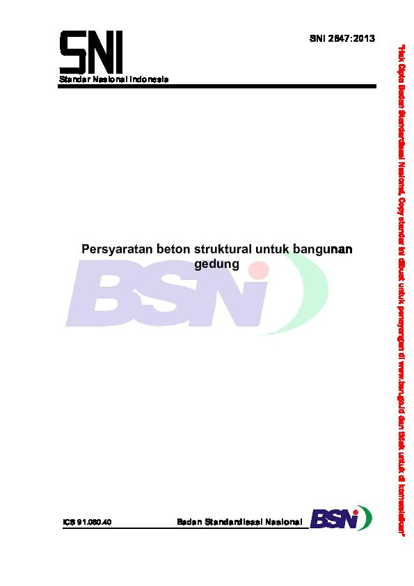 PDF) SNI 2847-2013 Persyaratan Beton Struktural untuk Bangunan ...