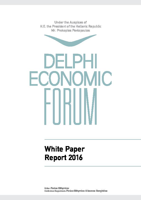 PDF) Delphi Economic Forum White Book, 2016 | Pavlos Efthymiou