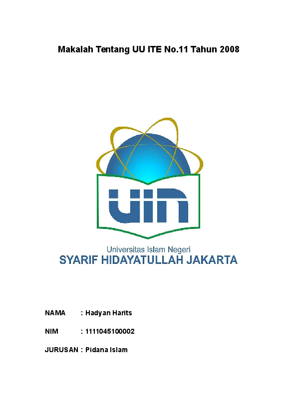 Doc Makalah Tentang Uu Ite No Fikri Ramadhan Academia Edu