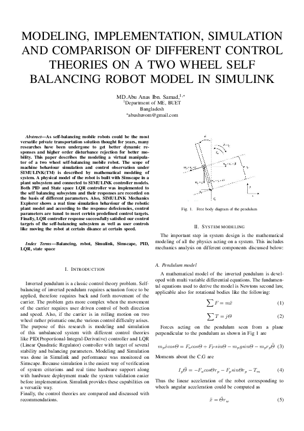 PDF) MODELING, IMPLEMENTATION, SIMULATION AND COMPARISON OF