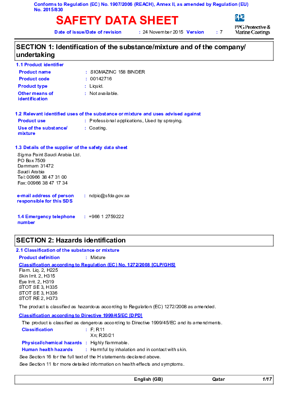 PDF) SAFETY DATA SHEET | pramod wakte - Academia edu
