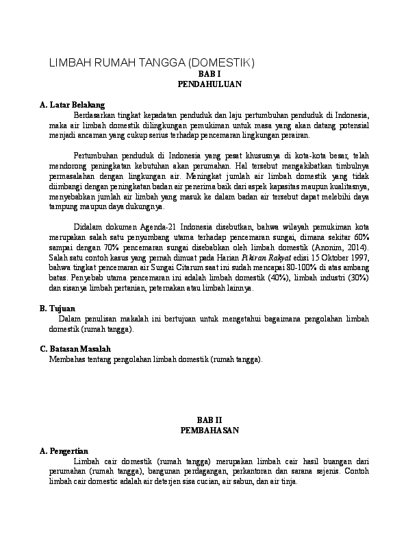 Doc Limbah Rumah Tangga Hendra H Academia Edu