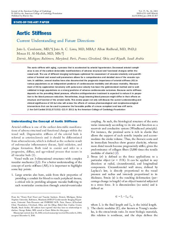 PDF) Aortic Stiffness | João Lima - Academia edu