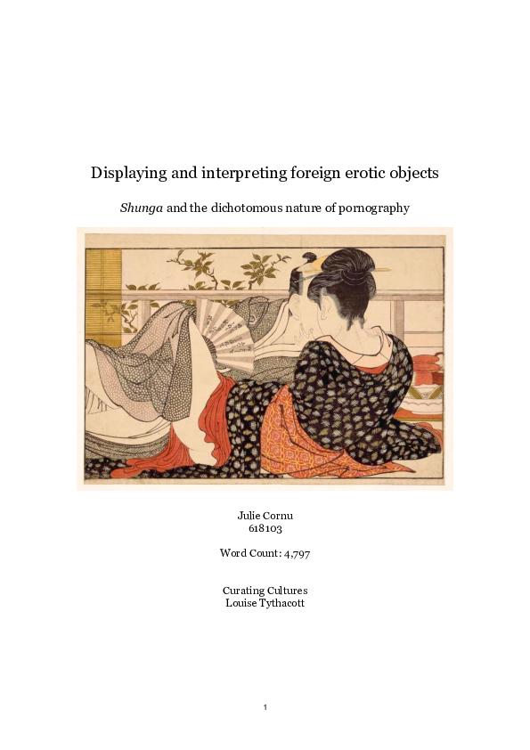 PDF) Shunga and the Dichotomy of Pornography: Displaying and