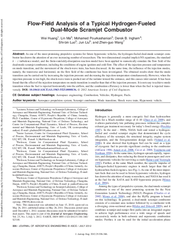 PDF) Flow-Field Analysis of a Typical Hydrogen-Fueled Dual