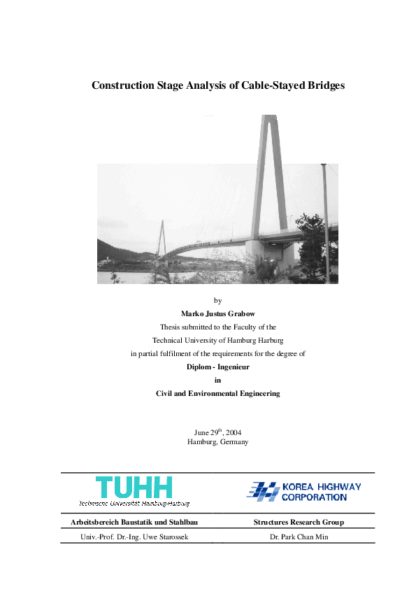 PDF) Construction Stage Analysis of Cable-Stayed Bridges | danh