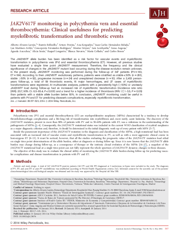 (PDF) Transformation of hematopoietic cell lines to growth