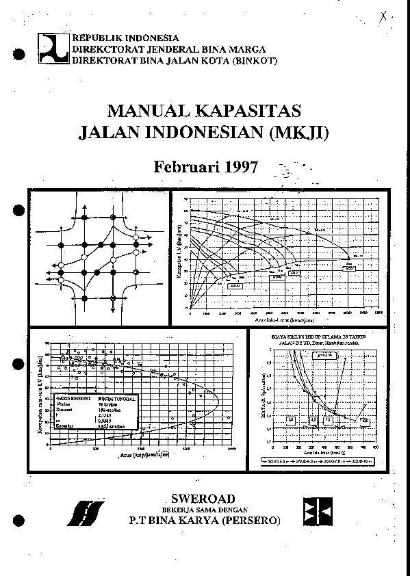 Mkji) manual kapasitas jalan indonesia.