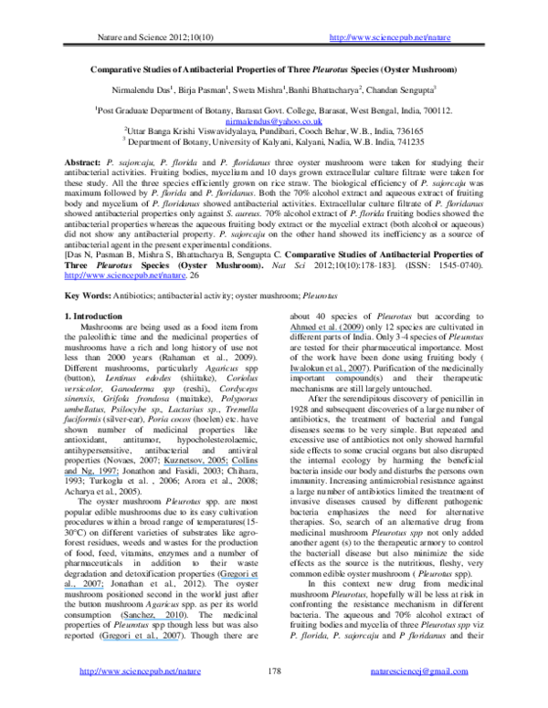 PDF) Comparative Studies of Antibacterial Properties of Three