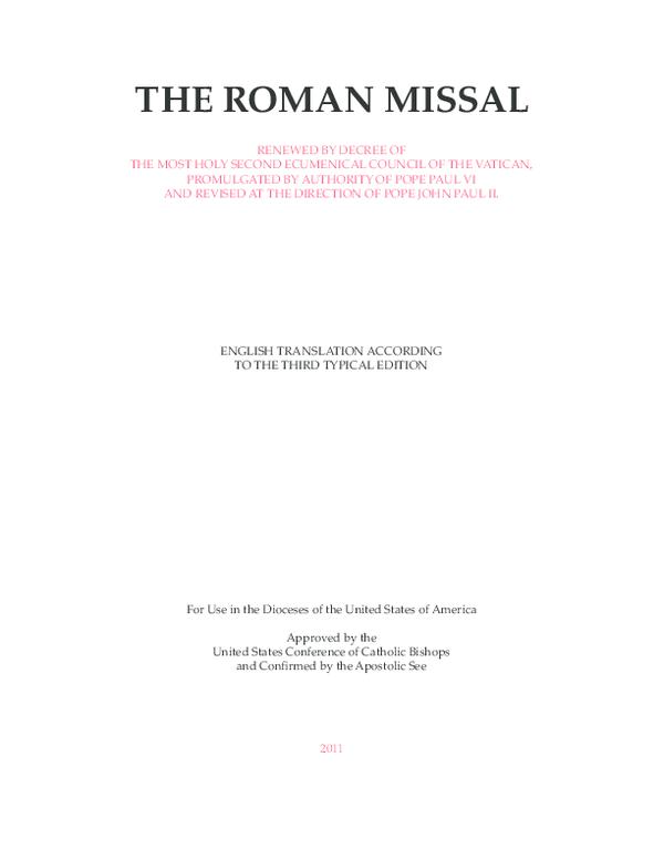 PDF) The Roman missal   C Lewis - Academia edu