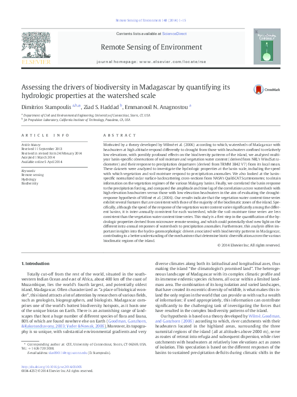 Carte Sig Madagascar.Pdf Assessing The Drivers Of Biodiversity In Madagascar By