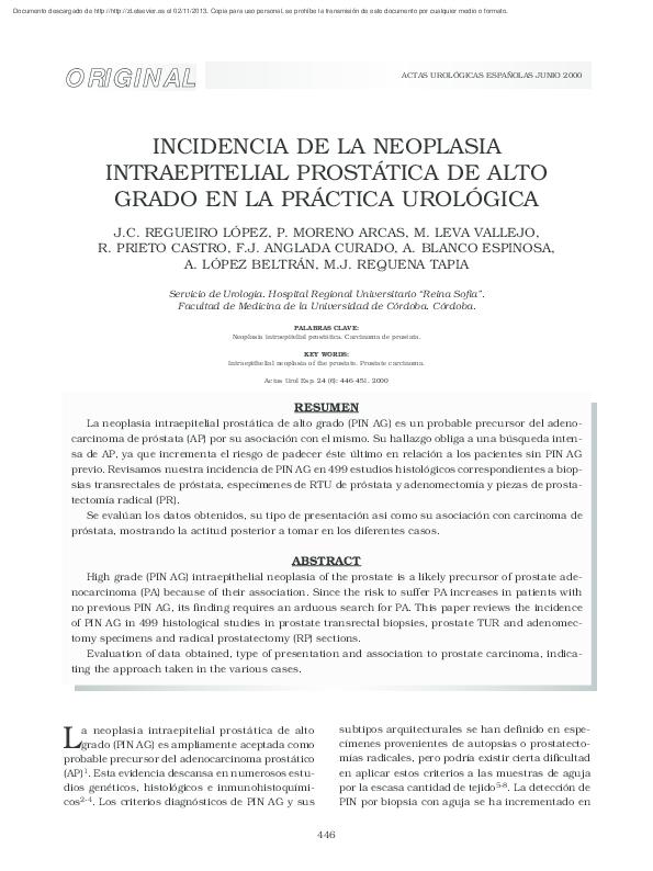 grading carcinoma prostatico mostofi