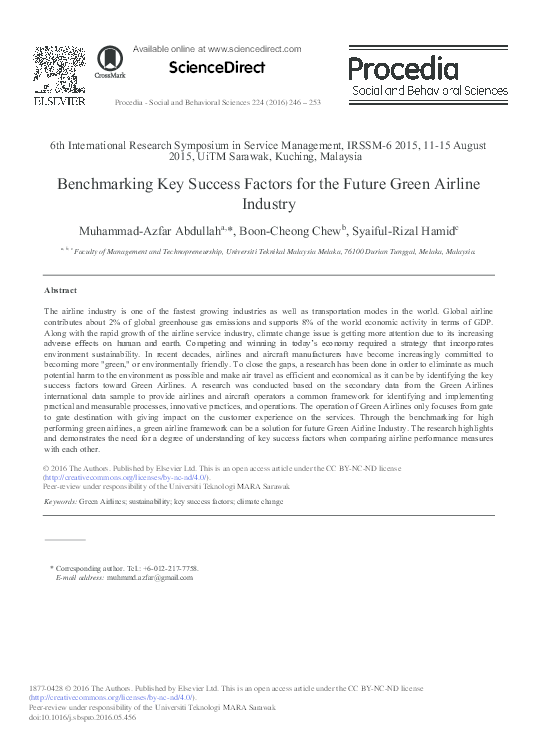 PDF) Bench-marking Key Success Factors for the Future Green