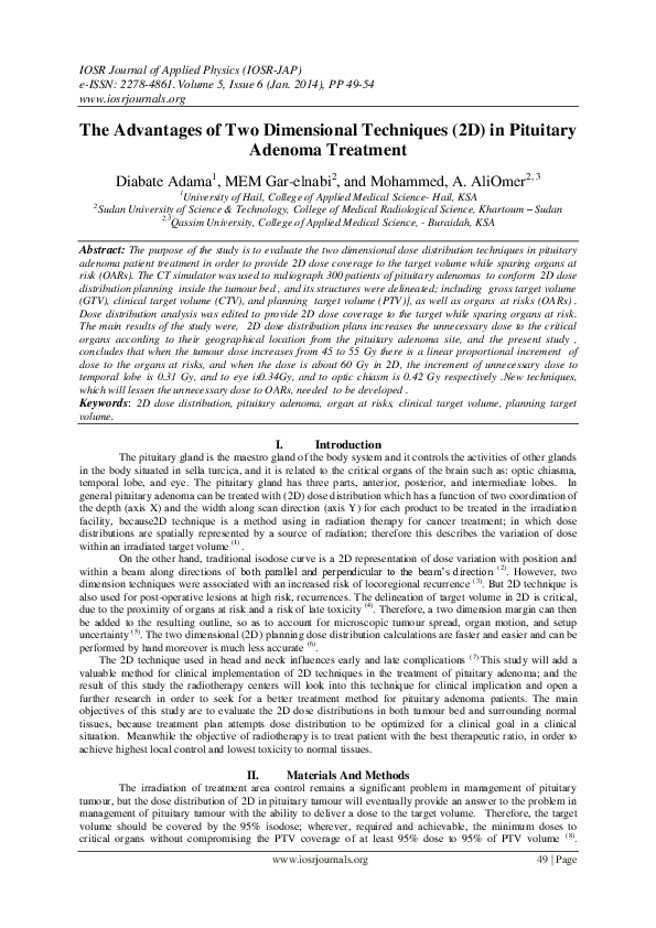 PDF) The Advantages of Two Dimensional Techniques (2D) in