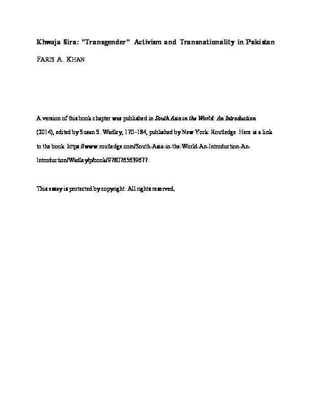 PDF) Khwaja Sara: