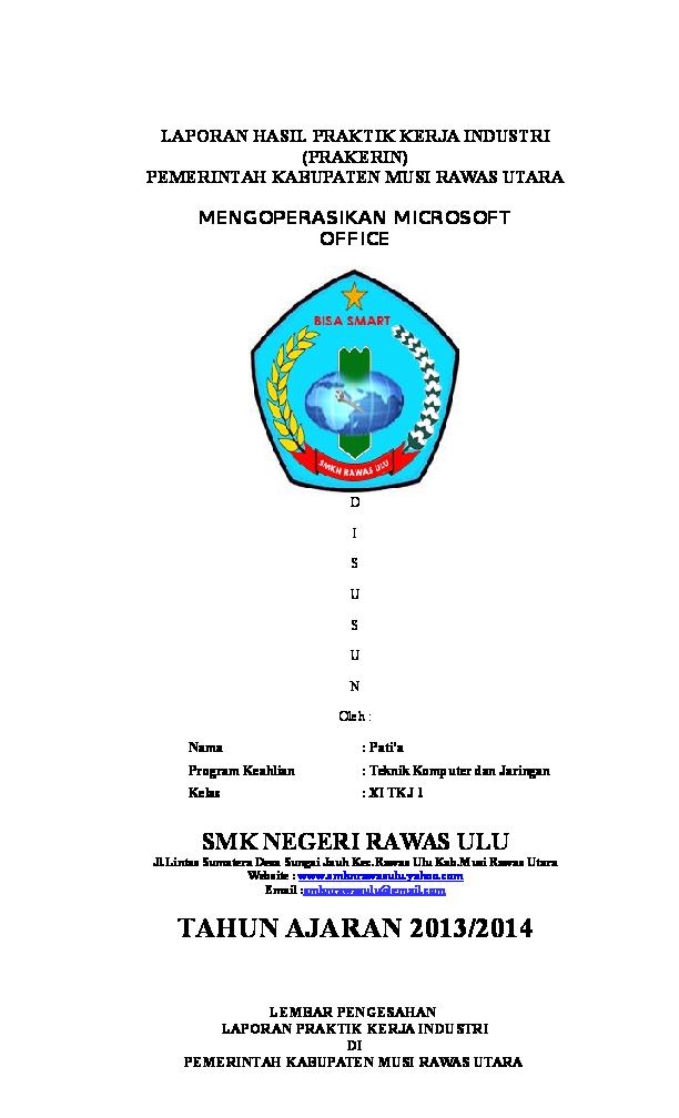 Doc Laporan Praktik Kerja Industri Fembi Ilham Academia Edu
