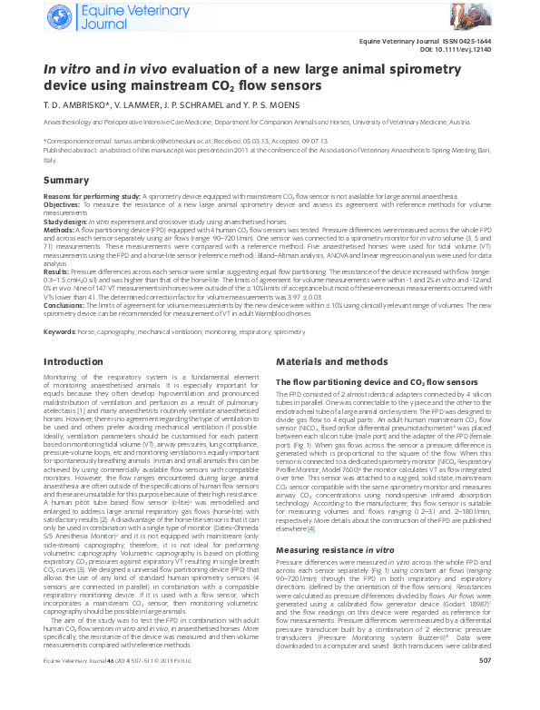 PDF) In vitro and in vivo evaluation of a new large animal