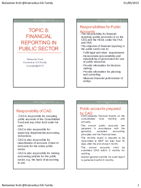 PDF) TOPIC 8- FINANCIAL REPORTING IN PUBLIC SECTOR pdf   Paa