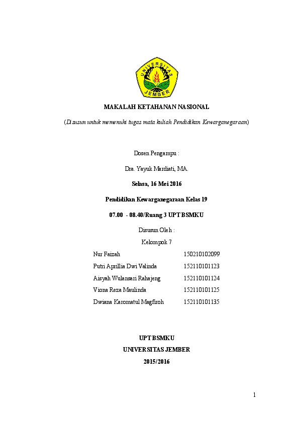 Doc Makalah Ketahanan Nasional Viona Reza Maulinda Academia Edu