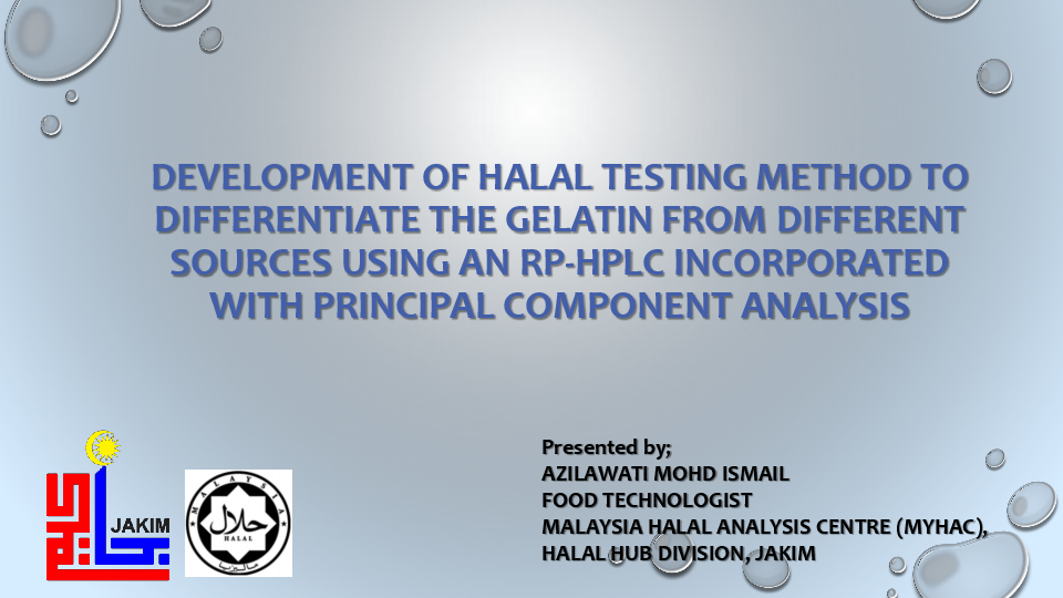 PDF) DEVELOPMENT OF HALAL TESTING METHOD TO DIFFERENTIATE