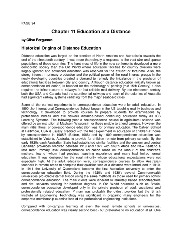 PDF) Education at a distance   Clive Ferguson - Academia edu
