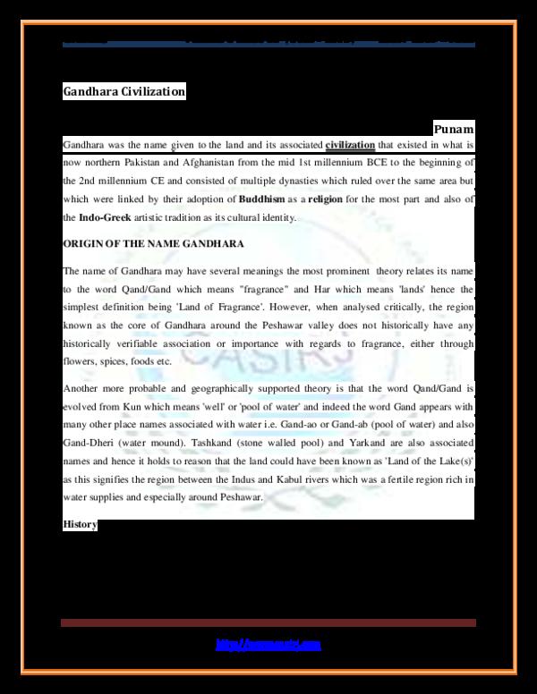 Pdf Gandhara Civilization International Research Journal Commerce Arts Science Academia Edu