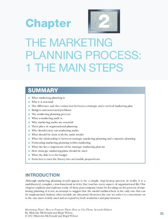 simple marketing plan example