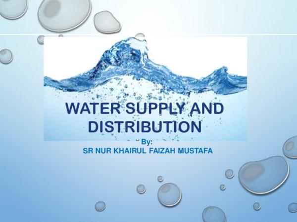 PDF) WATER SUPPLY AND DISTRIBUTION   yy wong - Academia edu