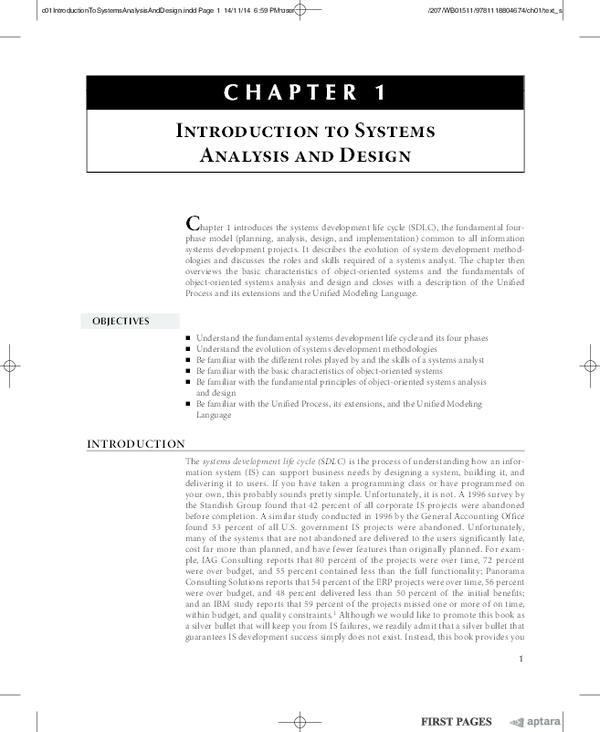 PDF) Introduction To Systems Analysis And Design | thomas kiluu