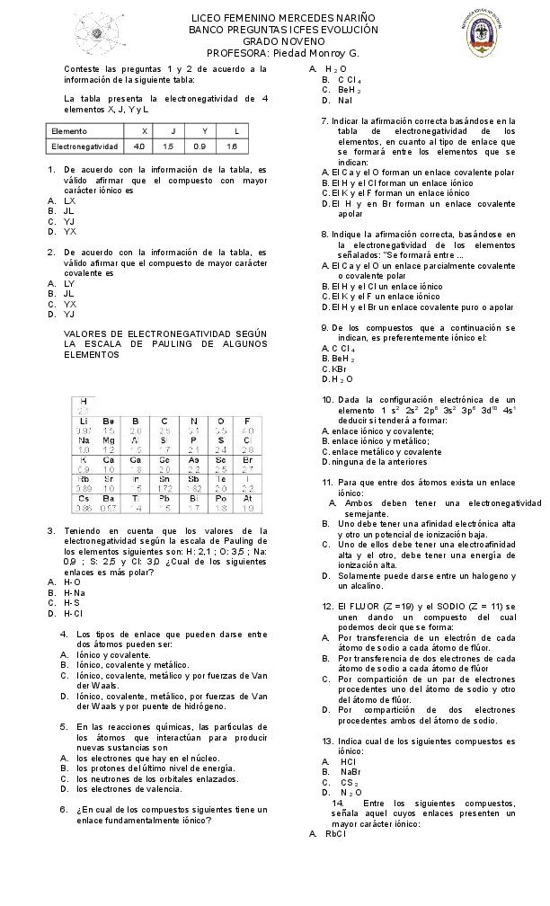 Doc Conteste Las Preguntas 1 Y 2 De Acuerdo A La
