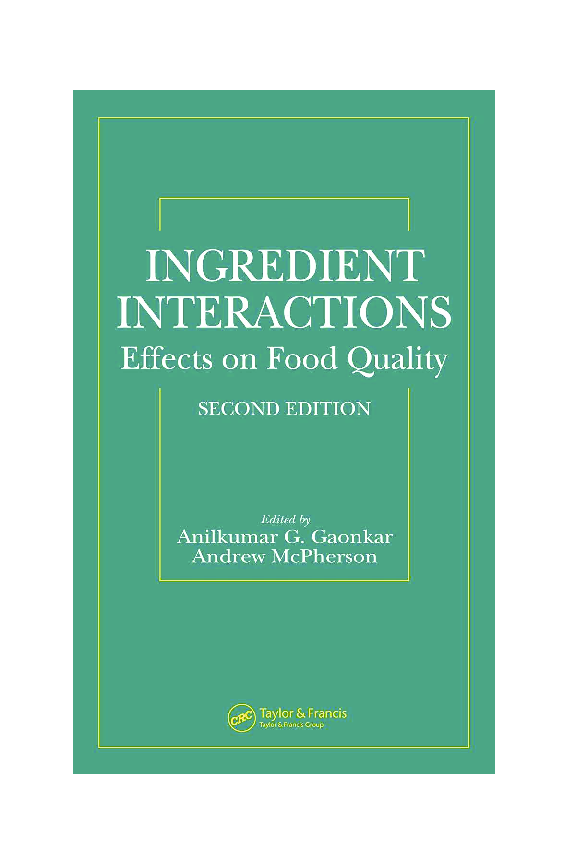 fb1920aaace PDF) Ingredient Interactions-Effects on Food Quality | LASINRANG ...