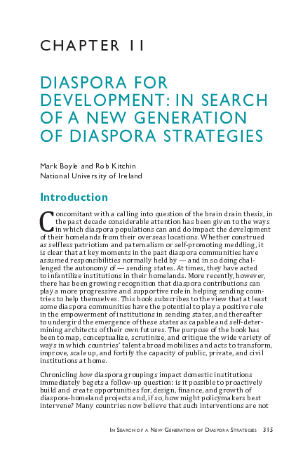 PDF) Diaspora for development: In search of a new generation