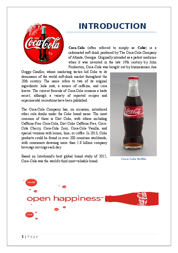 DOC) Production Process of Coca Cola  | Shakil Ahmed