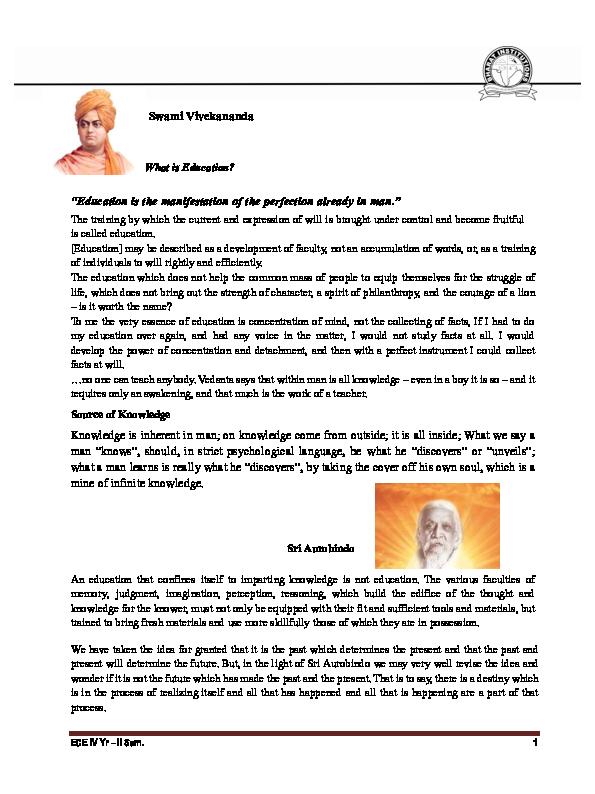 PDF) ECE IV Yr – II Sem  Swami Vivekananda | Suryanarayan