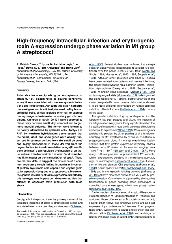 PDF) High-frequency intracellular infection and erythrogenic