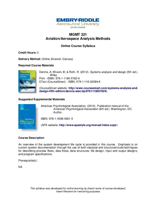 Pdf Mgmt 321 Online Syllabus John Mcgough Academia Edu