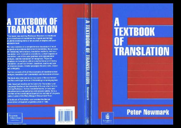PDF) Peter Newmark - Textbook Of Translation   Azouaou