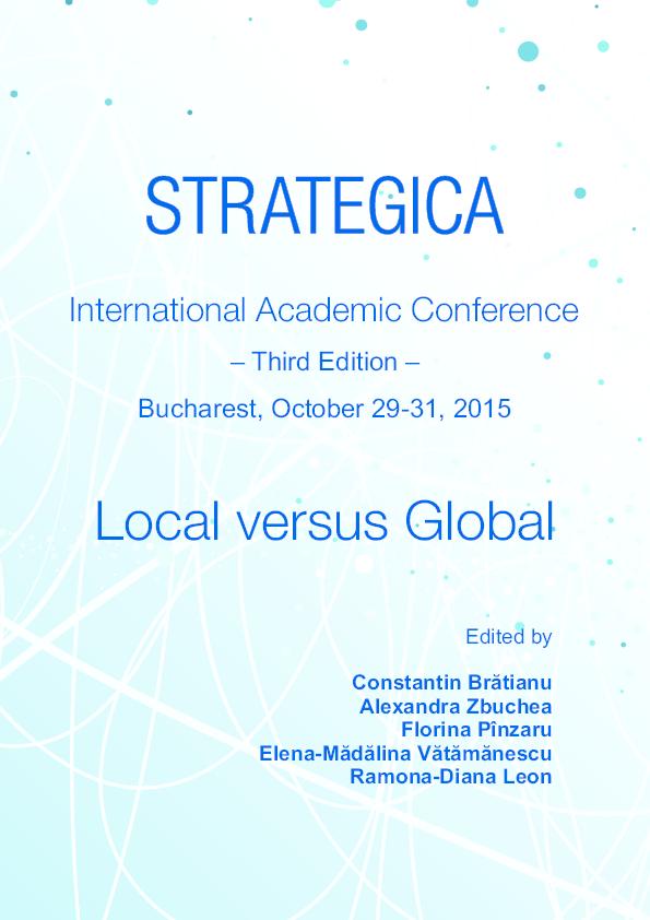 Strategica 2015  Local versus Global   Alexandra Zbuchea