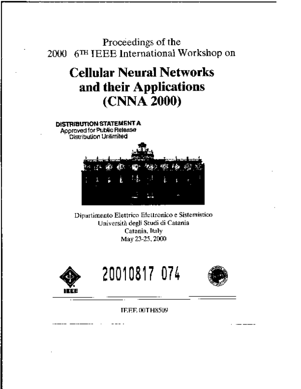 PDF) Structure reconfigurability of the CNNUC3 for robust