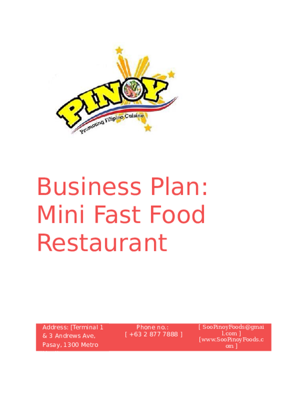 Catering business plan in philippines what are the steps in writing an essay