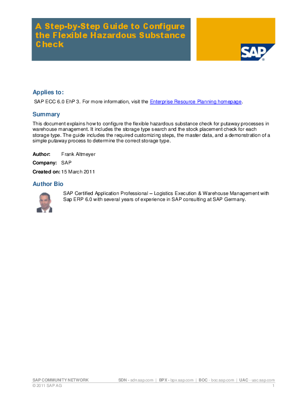 PDF) SAP EHS HSM CONFIG V1 0   Frank Owlonaa - Academia edu