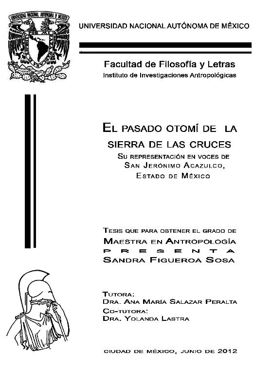 El Pasado Otom De La Sierra De Las Cruces Su Representacin En