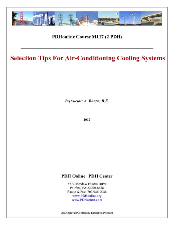 PDF) PDHonline Course M117 (2 PDH) Selection Tips For Air
