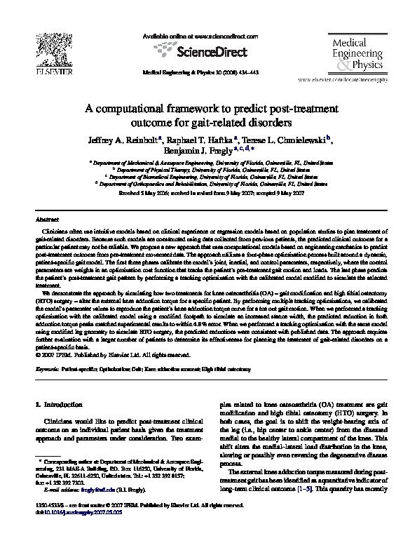 PDF) A computational framework to predict post-treatment